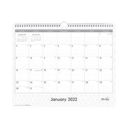 "Blue Sky™ Monthly Safety Wirebound Wall Calendar, 15"" x 12"", Enterprise, January To December 2022, 111292"