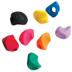 "J.R. Moon Pencil Co. Stetro Pencil Grips, 1/2"" x 1/2"", Multicolor, Pack Of 100"