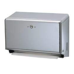 "San Jamar Mini Combination Hand Towel Cabinet Dispenser, 11 1/8"" x 3 7/8"" x 7 7/8"", Chrome"
