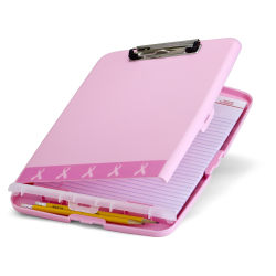 "Breast Cancer Awareness BCA Slim Form Holder Storage Clipboard Box, 11"", Pink"