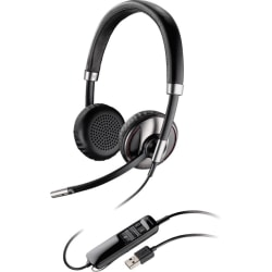Plantronics Blackwire 700 Series Bluetooth-enabled Corded USB Headset - Stereo - USB - Wired/Wireless - Bluetooth - 20 Hz - 20 kHz - Over-the-head - Binaural - Supra-aural - Noise Cancelling Microphone