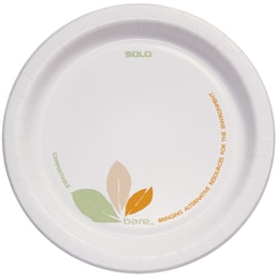 """Solo® Bare™ Heavyweight Paper Plates Perfect Pak™, 6"""", Pack Of 500"""