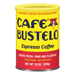 Cafe Bustelo® Dark Roast Espresso Coffee, 10 Oz Can