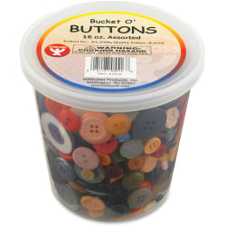 Hygloss Bucket 'O Buttons - Project, Art, Jewelry, Craft Project - Recommended For 3 Year - 1 Each - Assorted
