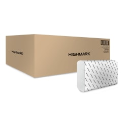 Highmark® Multi-Fold 1-Ply Paper Towels, 250 Sheets in each pack; 16 Packs per case.