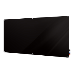 "Ghent Harmony Magnetic Glass Dry-Erase Board, 48"" x 96"", Black"