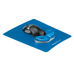 Fellowes® Gel Gliding Palm Support, Sapphire