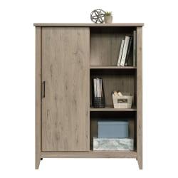 "Sauder® Summit Station 52""H Bookcase With Sliding Door, Laurel Oak"