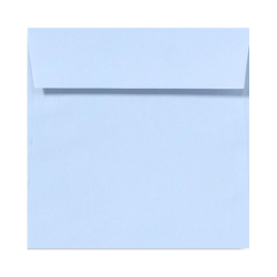 """LUX Square Envelopes With Peel & Press Closure, 5 1/2"""" x 5 1/2"""", Baby Blue, Pack Of 500"""