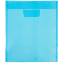 """JAM Paper® Plastic Envelopes With Tuck Flap Closure, 9 7/8"""" x 11 3/4"""", Blue, Pack Of 12"""