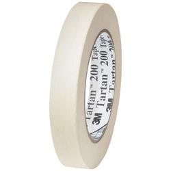 """3M™ Tartan 200 Masking Tape, 3"""" Core, 0.75"""" x 60 Yd., Natural, Case Of 12"""