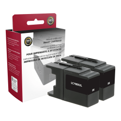 Clover Imaging Group ODLC79BX2 (Brother LC79BK) Extra-High Yield Remanufactured Black Ink Cartridges, Pack Of 2 Cartridges