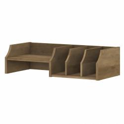 Bush Furniture Yorktown Desktop Organizer With Shelves, Reclaimed Pine, Standard Delivery