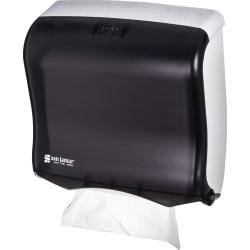 "San Jamar C-fold/Multi-fold Towel Dispenser - C Fold, Multifold, Touchless Dispenser - 400 Multifold, 240 C Fold - 11.5"" Height x 11.5"" Width x 6"" Depth - Plastic - Black Pearl - Compact, Durable, Impact Resistant"