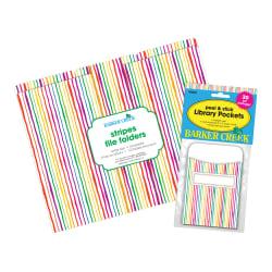 """Barker Creek Folder/Pocket Set, 9"""" x 12"""", Stripes"""
