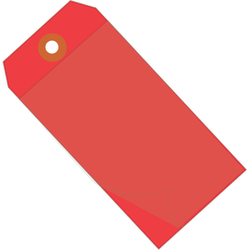 """Office Depot® Brand Self-Laminating Tags, 6 1/4"""" x 3 1/8"""", 95% Recycled, Red, Case Of 100"""