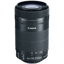 """Canon - 55 mm to 250 mm - f/4 - 5.6 - Telephoto Zoom Lens for Canon EF/EF-S - 58 mm Attachment - 0.29x Magnification - 4.5x Optical Zoom - Optical IS - STM - 2.8""""Diameter"""