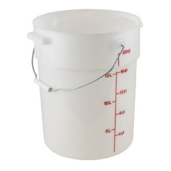 Cambro Bucket With Handle, 22 Qt, White