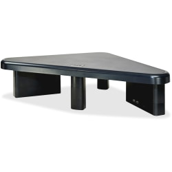 "DAC Stax Ergonomic Height Adjustable Corner Monitor Stand with 2 USB Ports - 66 lb Load Capacity - Flat Panel Display Type Supported - 4.8"" Height x 19"" Width x 11.5"" Depth - Black"