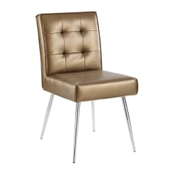 Office Star™ Avenue Six Amity Tufted Dining Chair, Sizzle Copper/Silver