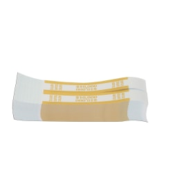 Currency Straps, Mustard, $10,000, Pack Of 1,000