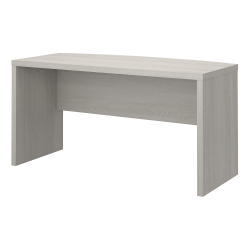 """kathy ireland® Office by Bush Business Furniture Echo 60""""W Bow Front Desk, Gray Sand, Standard Delivery"""