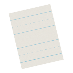 "Pacon® Skip-A-Line Ruled Newsprint, Grade 3, 8 1/2"" x 11"", 1/2"" LW, Pack Of 500 Sheets"