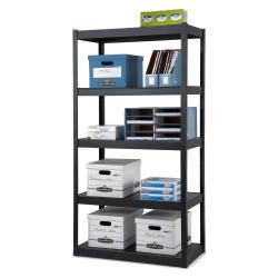 """Edsal Heavy-Duty Steel Shelving, 5 Shelves, 36""""W x 18""""D, Black"""