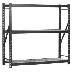 """Edsal Heavy-Duty Welded Storage Rack, 72""""H x 77""""W x 24""""D, Black"""