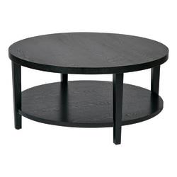 Ave Six Merge Coffee Table, Round, Black
