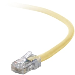 Belkin Cat5e Patch Cable - RJ-45 Male - RJ-45 Male - 12ft - Yellow