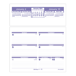 "AT-A-GLANCE® Flip-A-Week Weekly Desk Calendar Refill, 6"" x 7"", January To December 2021, SW705X50"
