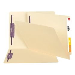 Smead® End-Tab Fastener Folders With SafeSHIELD® Coated Fasteners, 11 Pt., Letter Size, Box Of 50