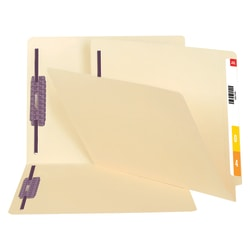 Smead® End-Tab Fastener Folders With SafeSHIELD® Coated Fasteners, 14 Pt., Letter Size, Box Of 50