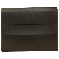 JAM Paper® Portfolio Carrying Case With Elastic Band, Black