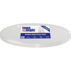 "Tape Logic® 5600 Double-Sided Foam Tape, 0.5"" x 108', White, Case Of 2"