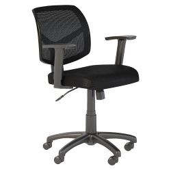 Bush Business Furniture Petite Mesh Back Office Chair, Black, Standard Delivery