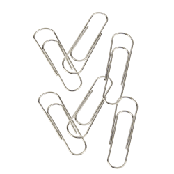 """Office Depot Brand® Brand Jumbo Paper Clips, 3-15/16"""", 50-Sheet Capacity, Silver, Pack Of 6 Clips"""