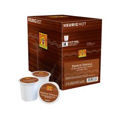 Diedrich Coffee Light Roast Coffee Single-Serve K-Cup®, French Vanilla, 0.31 Oz, Carton Of 24
