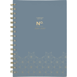 """Cambridge® WorkStyle Weekly/Monthly Planner, 5-1/2"""" x 8-1/2"""", Gray Geo, July 2021 To June 2022, 5557G-200A"""