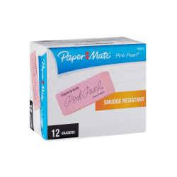 Paper Mate® Pink Pearl® Erasers, Large, Box Of 12