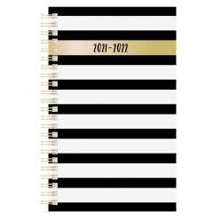 """Office Depot® Brand Fashion Weekly/Monthly Academic Planner, 5"""" x 8"""", Alphabet, July 2021 To June 2022, NW558PPA"""