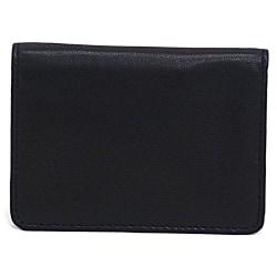 "Samsonite® Leather Business Card Holder, 4 1/16"" x 3"" x 1/2"", Black"