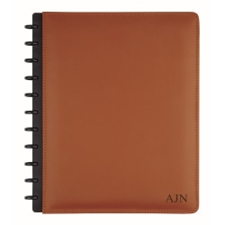 """TUL™ Personalized Custom Note-Taking System Discbound Letter-Size Notebook, 8 1/2"""" x 11"""", Brown"""