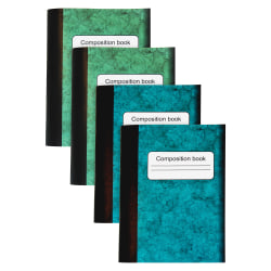 "Sparco Composition Books - 80 Sheets - 4.3"" x 3.3"" - Multi-colored Cover - Sturdy Cover, Durable - 4 / Pack"