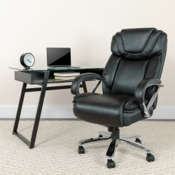 Flash Furniture Hercules Bonded LeatherSoft™ High-Back Big And Tall Ergonomic Office Chair, Black/Gray