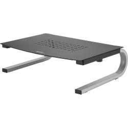 "Allsop® Redmond Monitor Stand, 4.2""H x 14.6""W x 11""D, Black/Silver"
