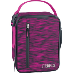 """Thermos® Upright Insulated Lunch Bag, 9-3/16""""H x 7-3/16""""W x 3-5/16""""D, Pink"""