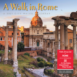 "Willow Creek Press Scenic Monthly Wall Calendar, 12"" x 12"", FSC® Certified, Walk In Rome, January to December 2021, 10334"