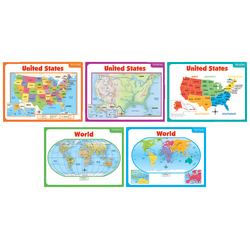 Scholastic Teacher's Friend Teaching Maps Bulletin Board Set, Pre-K - Grade 5